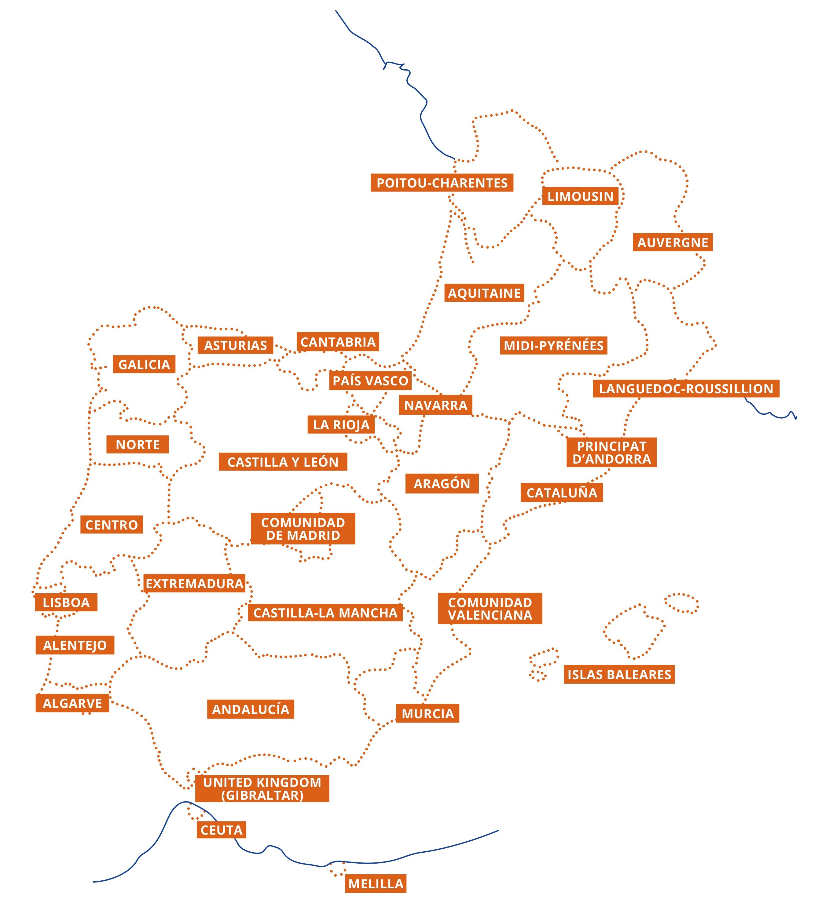 Carte Interreg SUDOE